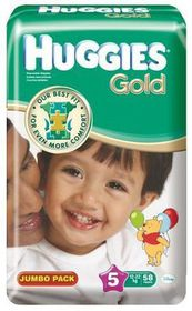 Huggies - Gold Size 5 Junior 58 Jumbo Pack