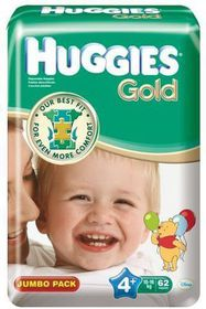 Huggies Gold Maxi Plus 62 Jumbo Pack - 4+