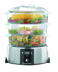 Russell Hobbs - 3 Tier Satin Quartz - Food Steamer