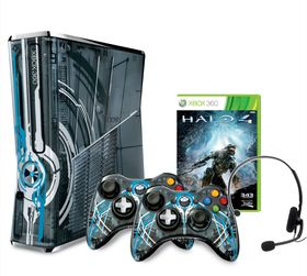 Xbox 360 Console S 320GB Halo 4 Limited Edition + 2 Customised Halo 4 Controllers (Xbox360)