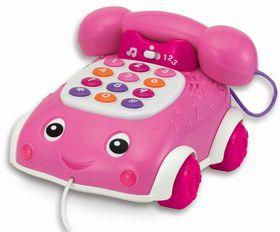 Winfun - Talk 'n Pull Phone - Pink