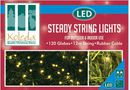 Outdoor Steady Lights, 120 Warm White Globes (12m)