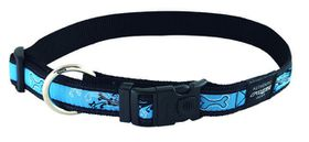 Rogz - Fancy Dress Large Beachbum Dog Collar - Turquoise