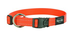 Rogz Utility Large Fanbelt Dog Collar - Orange