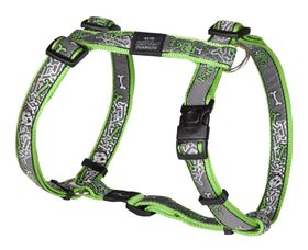 Rogz Fancy Dress Extra Large Armed Response Dog H-Harness - Lime