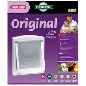 Staywell Original 2 Way Pet Door Flap - Medium  White