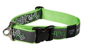 Rogz Fancy Dress Extra Extra Large Special Agent Dog Collar - Lime