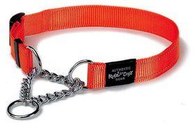 Rogz - Utility Extra-Large Lumberjack Check Collar - Orange