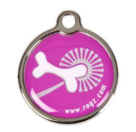 Rogz - Small Metal Dog ID Tag - Pink