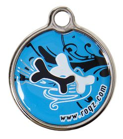 Rogz Large Metal Dog ID Tag 31mm - Turquoise