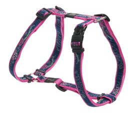 Rogz Fancy Dress Medium Scooter Dog H-Harness - Navy & Pink