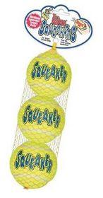 Kong Dog Toy AirDog Squeakair Tennis Ball (3 Pack) - Small Yellow