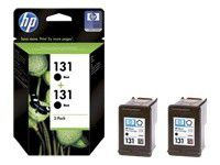 HP 131 Black Inkjet Print Cartridge with Vivera Ink - Twin Pack