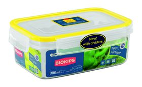 Snappy Food  - 900ml Rectangular Food Storage Container With Dividers