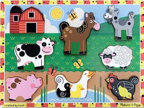 Melissa & Doug Farm Wooden Puzzle - 8 Piece
