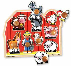 Melissa & Doug Large Farm Puzzle with Jumbo Knobs