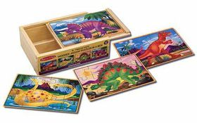 Melissa & Doug Dinosaurs Puzzles in a Box - 12 Piece