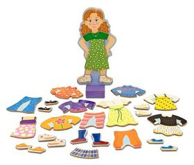 Melissa & Doug Maggie Leigh Magnetic Wooden Dress-up Doll