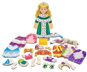 Melissa & Doug Princess Elise Magnetic Wooden Dress-up Doll