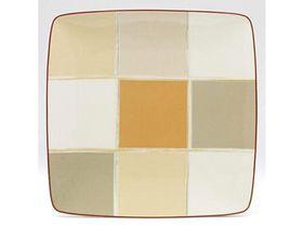Noritake Mocha Java Square Plate 26.4cm - White & Brown (28.5mm x 28.5mm x5mm)
