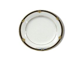 Noritake - Braidwood Salad Plate 21cm - White and Gold With Black Detail - 21 x 21 x 1cm