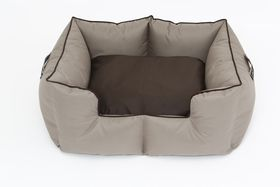 Wagworld - Castle Bolster Bed - Camel & Chocolate