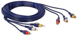 Ellies 3RCA-3RCA Patch Cord - 3M
