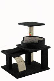 Scratzme Kitten Castle Scratching Post GREY/CHARCOAL