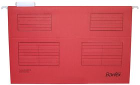 Bantex Suspension File Foolscap - Red (Pack of 25)