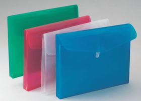 Bantex Polypropylene A4 Expandable Envelopes - Red (Pack of 5)
