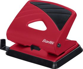 Bantex Office 2 Hole Metal Perforator - Red