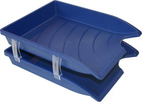 Bantex Optima Retail Pack - 2x Trays & Set of Risers - Blue