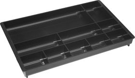 Bantex Desk Drawer Organiser - Black (10 Compartment)