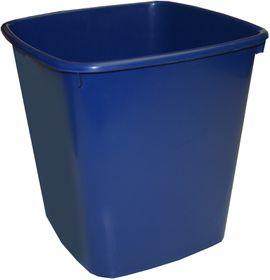 Bantex Waste Paper Bin 20 Litre Square - Blue
