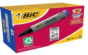BIC 2000 Permanent Marker Bullet Point - Blue (Box of 12)