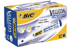 BIC Velleda 1701 Whiteboard Bullet Point Marker - Blue (Box of 12)