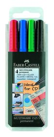 Faber-Castell Multimark Permanent Soft - Pack of 4