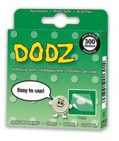 3L EZ Dodz Clear Adhesive Dots - Medium (Pack of 300 Dodz)