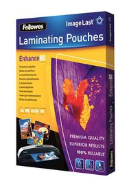 Fellowes Enhance80 A3 80micron Gloss Laminating Pouches (100 Pack)