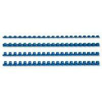 Fellowes 10mm 21 Loop Plastic Binding Combs - Blue (Pack of 100)