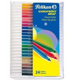 Pelikan Colorella Star Fibre Tip Pens (Wallet of 24)