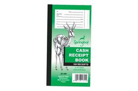 Croxley Springbok JD409 Cash Receipt Book - Gummed (Pack of 10)