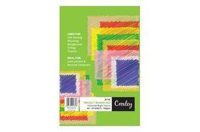 Croxley JD142 A4 160gsm Project Board 20 Sheet Pad