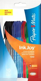 PaperMate Inkjoy 100 Capped Ballpoint Pens - Assorted (Pack of 10)