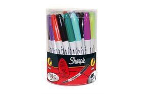 Sharpie Fine Permanent Marker Assorted (Tub of 36)