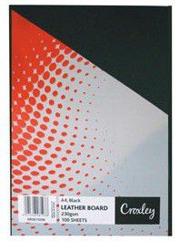 Croxley Binding Leather Board 230gsm - Black (Pack of 100)