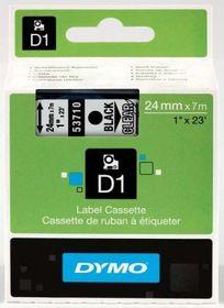 Dymo D1 Tape Cassette - Black Print on Clear Tape (24mm x 7m)