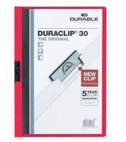 Durable Duraclip 30 Page A4 Folder - Red