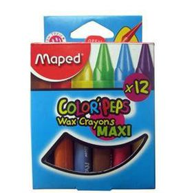 Maped Color'Peps Triangular Maxi Wax Crayons 12's