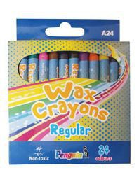 Penguin A24 Wax Crayons - (Box of 24)